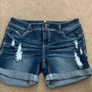 Rue 21 Distressed Denim Shorts